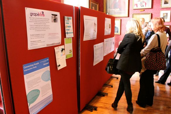 Poster displays during the networking lunch