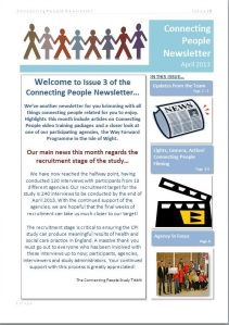 Issue 3 Connecting People Newsletter